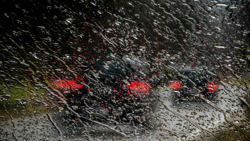 Eine Kaltfront Mit Sturm Regen Und Schnee Zieht Durch Wetterde