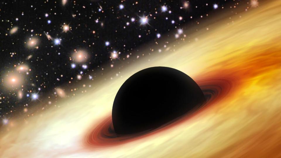 So viel Masse wie 12 Milliarden Sonnen: Gigantisches Schwarzes Loch ...