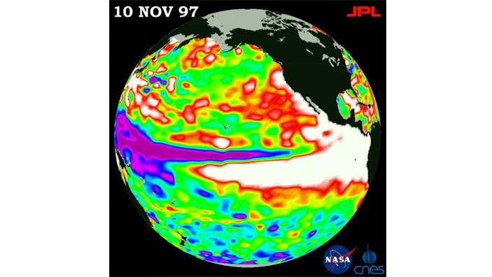 Satellitenbild El Nino