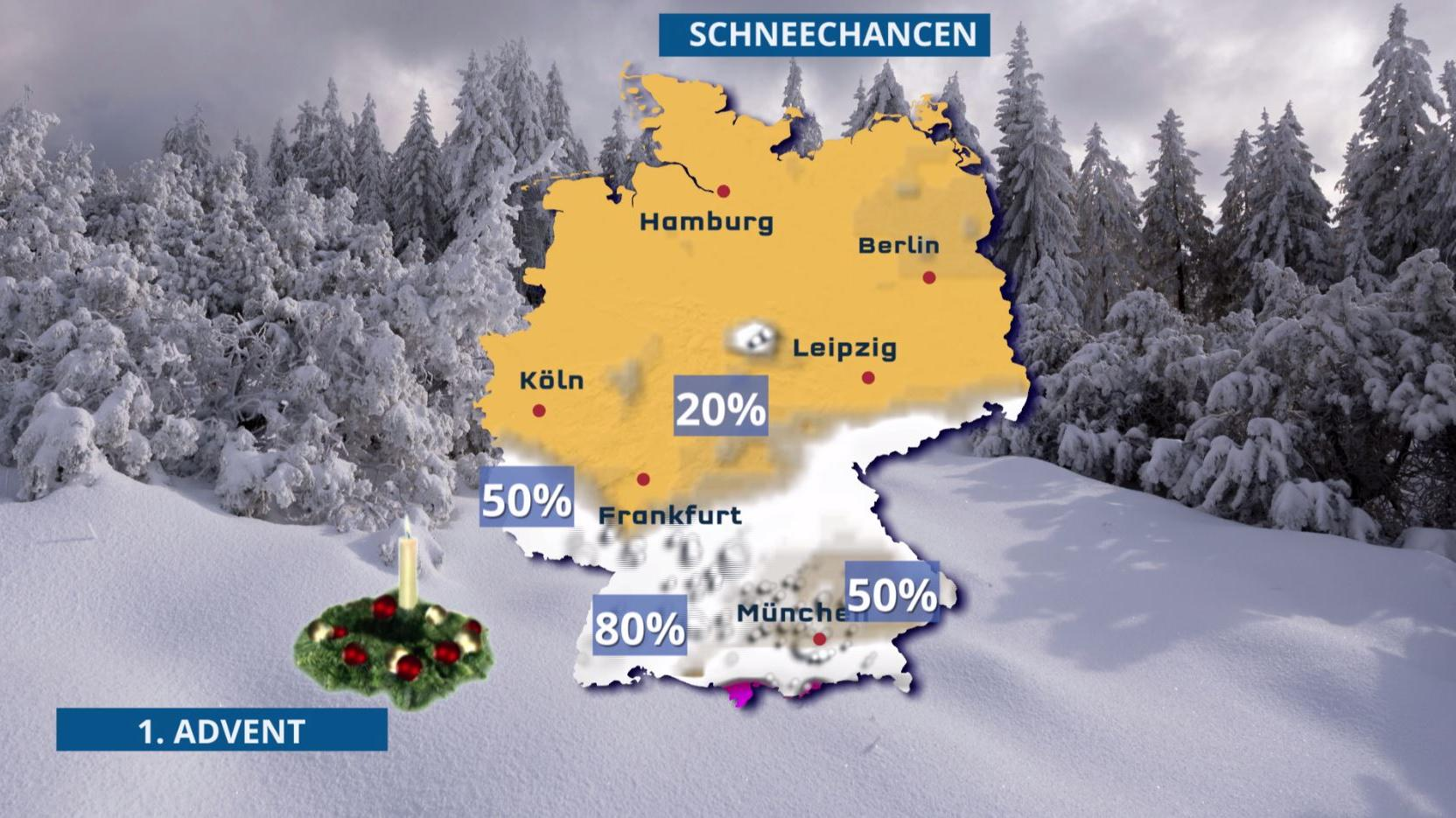 Schnee am 1. Advent