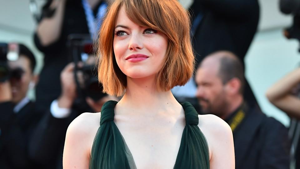 US actress Emma Stone arrives for the screening of the movie