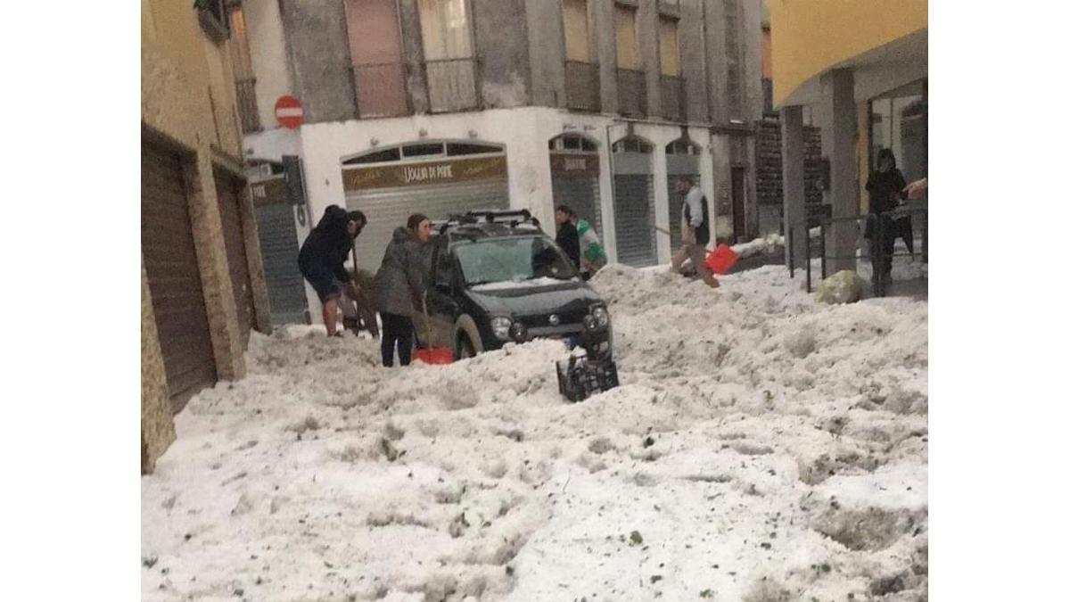 Unwetter Italien Hagel