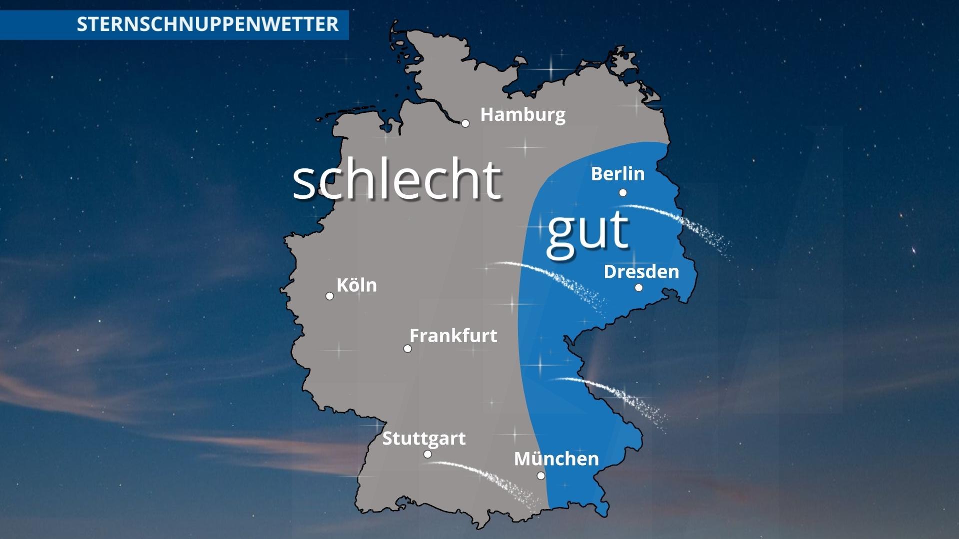 Komet über Deutschland