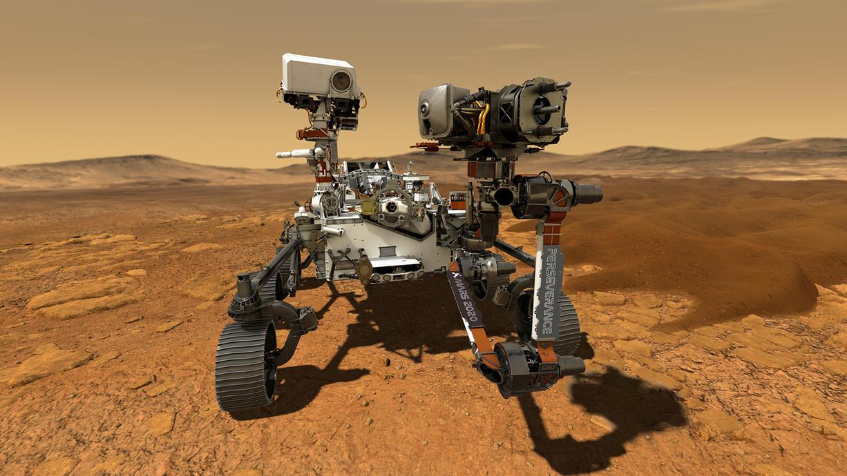 """Der fleißige Mars-Rover """"Perseverance"""" bereitet sich darauf vor, Gestein des Planeten zu entnehmen, das als Probe zur Erde geschickt werden soll. In dem Zusammenhang spricht die Weltraumbehörde Nasa von einer """"neuen Ära der Planetenforschung""""."""