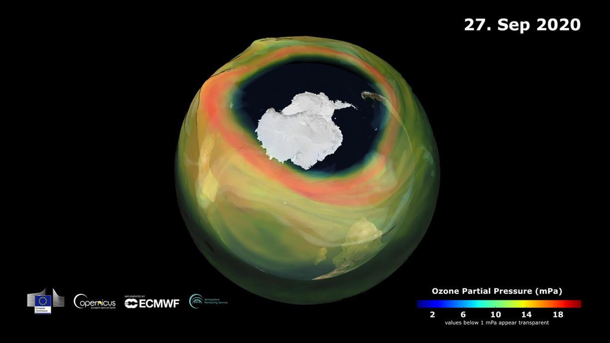 Das Ozonloch war aus den Schlagzeilen so gut wie verschwunden. In diesem Jahr aber ist es über der Antarktis ungewöhnlich groß und da tauchen alte Sorgen wieder auf. Was wir trotzdem aus der Ozonschicht-Krise fürs Klima lernen können.