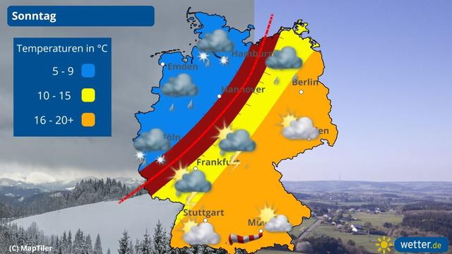 So ein Tag erleben auch die Meteorologen selten. Am Sonntag hält das Wetter fast alles für uns parat. Auf der einen Seite Sonne, mehr als 20 Grad und frühsommerliche Gewitter, auf der anderen Seite Kälte, Regen und Schnee. Was passiert da genau?