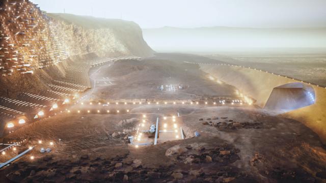 Groß ist das, was das Wissenschaftler- und Akademikernetzwerk, SONet in Zusammenarbeit mit dem Architekturbüro Abiboo Studios als Stadt auf dem Mars entwickelt hat. Auf dem Roten Planeten soll die Stadt Nüwa als erste Kolonie entstehen.