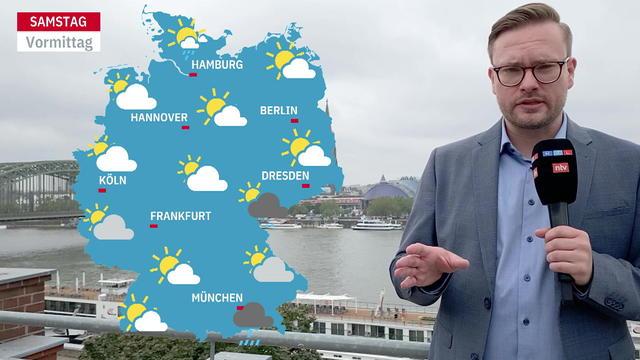 Im Video zeigen wir die aktuellsten Wettervorhersagen und Prognosen für die kommenden 3 Tage aus dem ntv Wetter.
