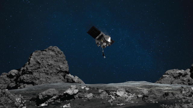 Die Sonde hatte auf Asteroid Bennu Staub und Geröll gesammelt. Nun soll es auf den Rückweg gehen. Der ist schlappe 2,3 Milliarden Kilometer weit und so wird die Sonde erst im September 2023 zurück erwartet.