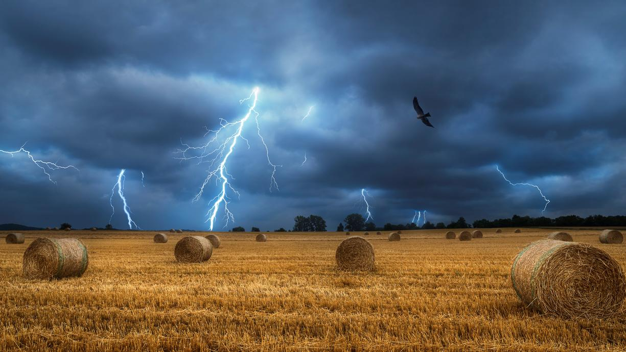 Bei der erwarteten Schwüle und Hitze können die Gewitter erneut heftig werden und sich als Unwetter gebärden. Neben zum Teil sehr blitzintensiven Gewittern müssen wir uns auf Starkregen mit Überflutungsgefahr, Hagel und Sturmböen einstellen.