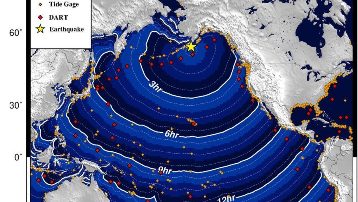 In Alaska hat es ein heftiges Erdbeben der Stärke 8,2 gegeben. Die US-Erdbebenwarte USGS gab die Stärke mit 8,2 an und fand in einer Tiefe von 35 Kilometern statt. Es wurden für mehrere Gebiete Tsunami-Warnungen ausgegeben.