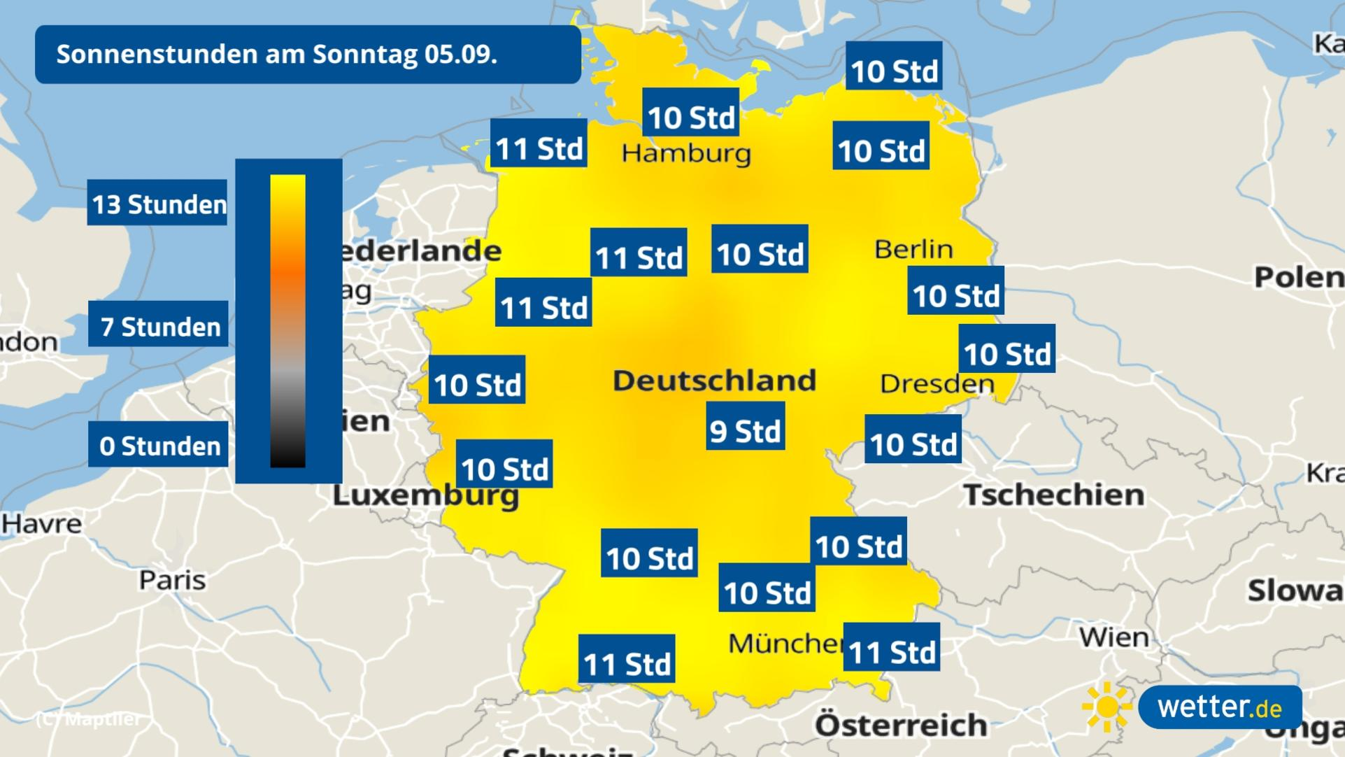 Herbst in Deutschland Bringt der September mehr Sonne als der ...