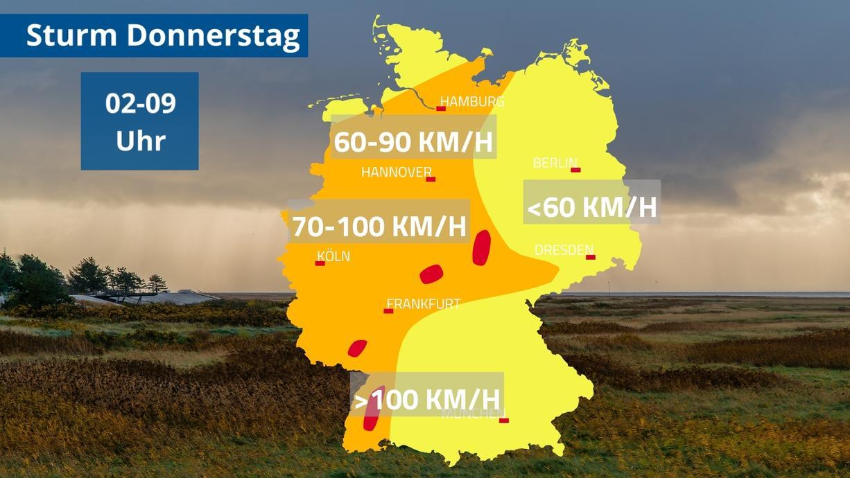 Ein Herbststurm trifft Deutschland. Die Bäume tragen noch viel Laub und sind deshalb anfällig für starken Wind. Es kann also durchaus gefährlich werden. Wir sagen wann und wo es besonders windig wird.