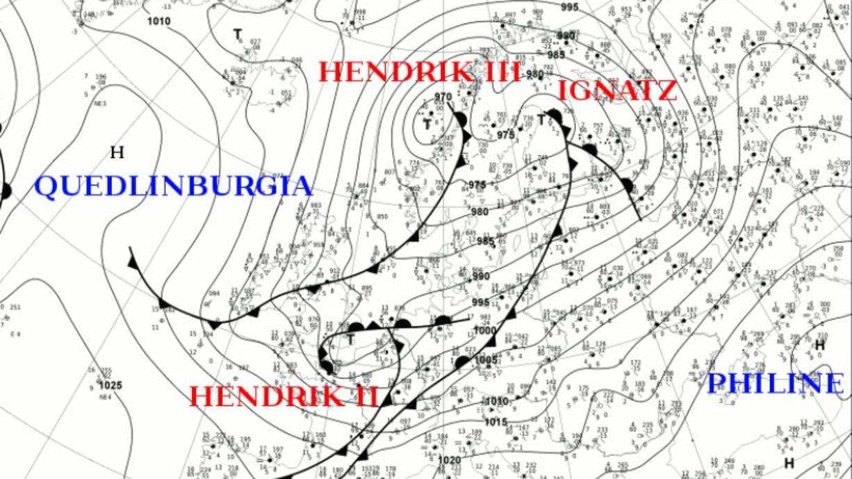 Als wäre der Donnerstag nicht schon stürmisch genug gewesen, wirbelten auch noch zwei Namen in den Sturm-Meldungen durcheinander: Tief HENDRIK und Tief IGNATZ. Welches Tief war es denn nun, das Deutschland den Herbststurm bescherte?