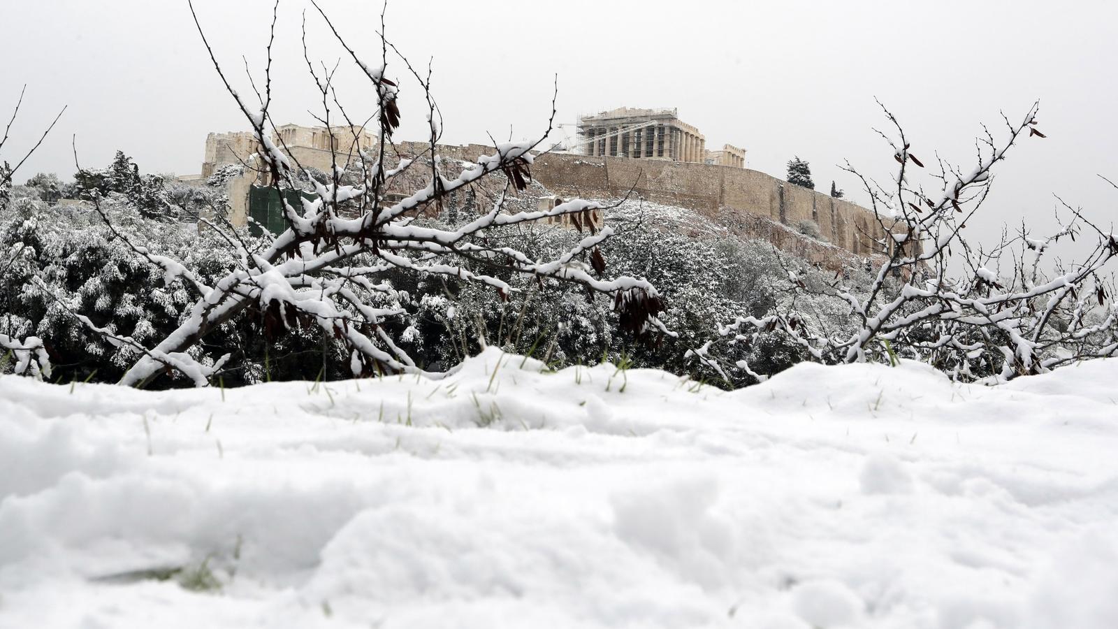Schnee In Griechenland