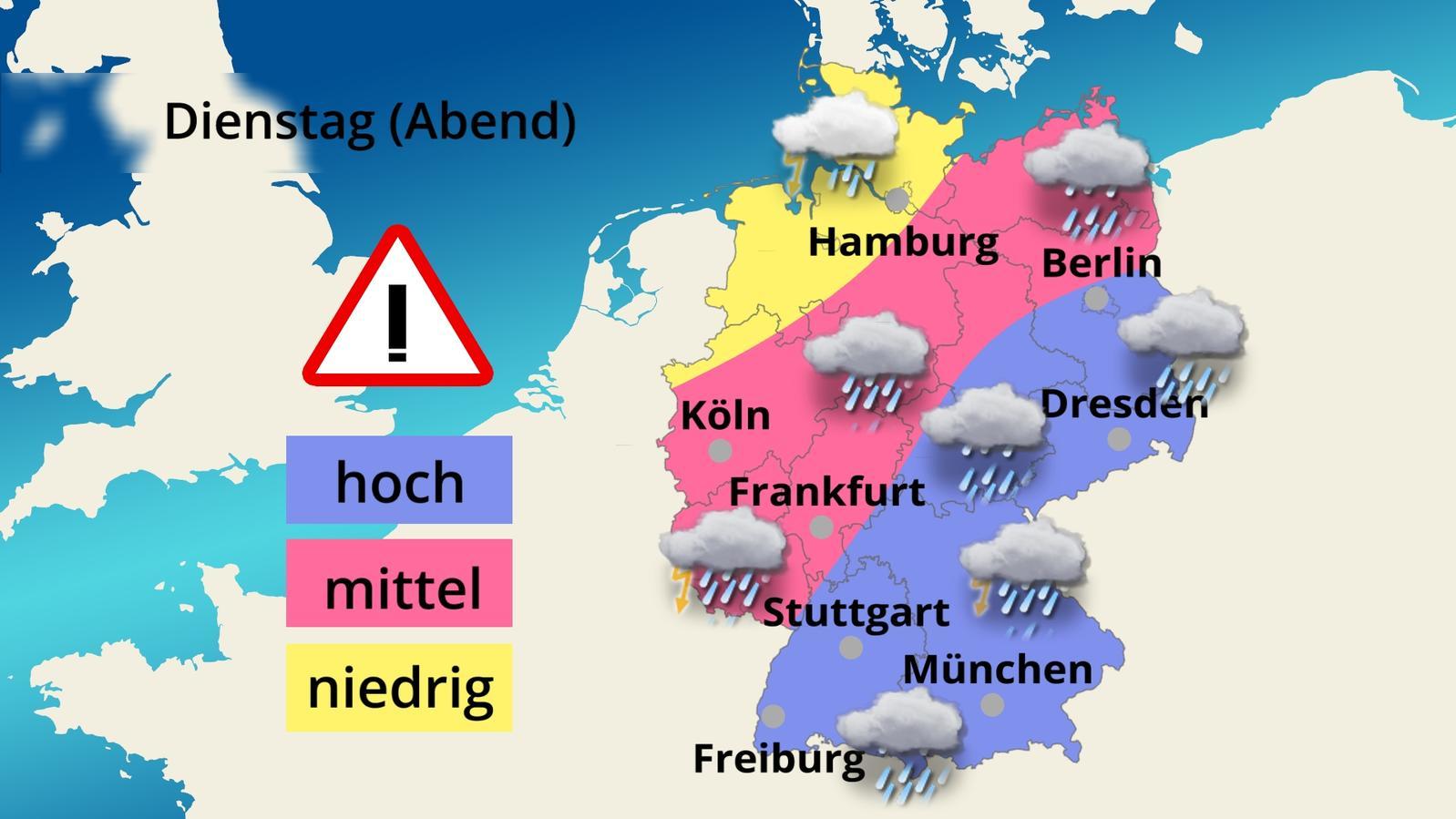 Die Aktuellen Unwetterwarnungen